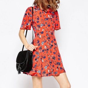 Asos Petite Printed Tea Dress in floral